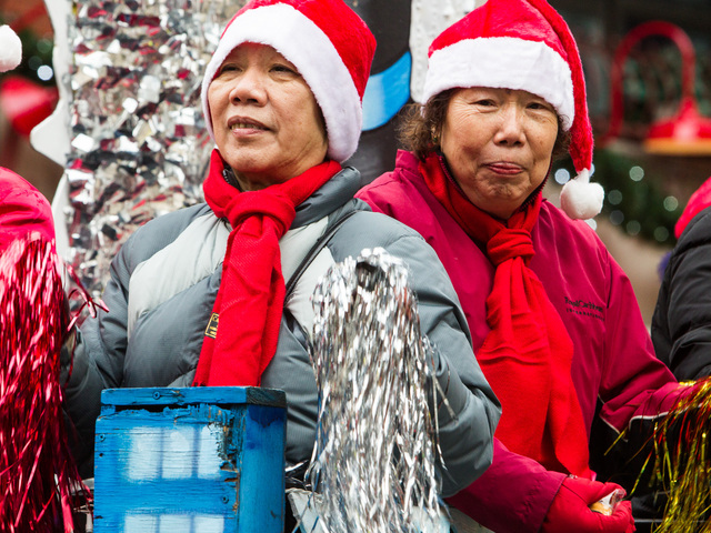<p>People of all ages enjoy the annual East Meets West Parade in Chinatown &amp; Little Italy on Dec. 22nd, 2012.</p>