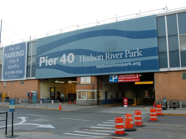 <p>Pier 40 is located along the West Side Highway at the end of West Houston Street.</p>
