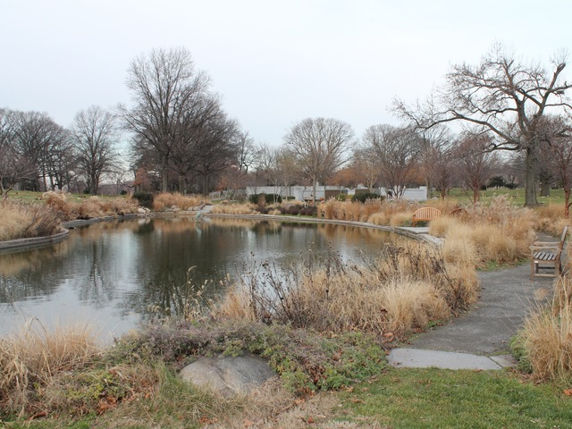 <p>The graveyard boasts dozens of old shady trees and features a pond surrounded with benches.&nbsp;</p>
