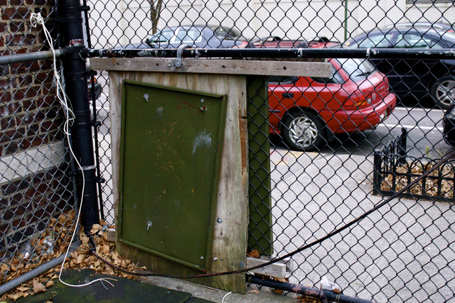 <p>On either side of the playground, there are gaping holes in the fence made by trespassers who cut through the wire fence. The school&rsquo;s custodian attempts makeshift repairs to the fence &mdash; using wires, plastic bands and wooden boards &mdash; but the holes continue to appear, according to the PTA.</p>