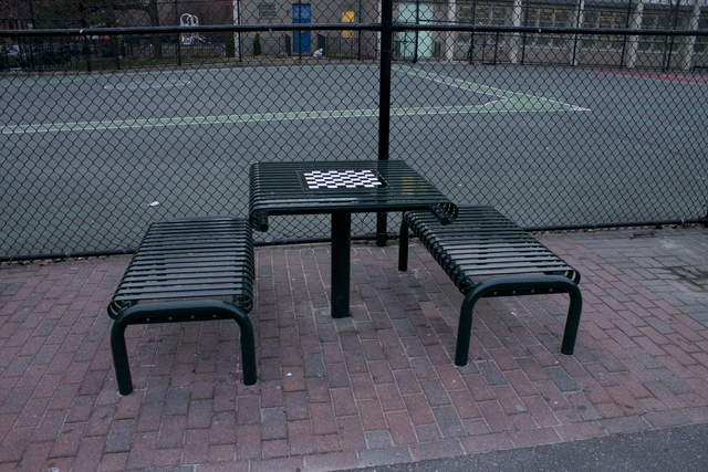 <p>Trust for Public Land donated new tables and benches to P.S. 38 in November.</p>