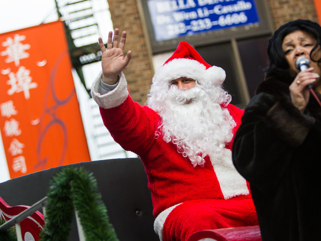 <p>Santa Claus makes an appearance at the East Meets West Parade that took place in Chinatown &amp; Little Italy on Dec. 22nd, 2012.</p>