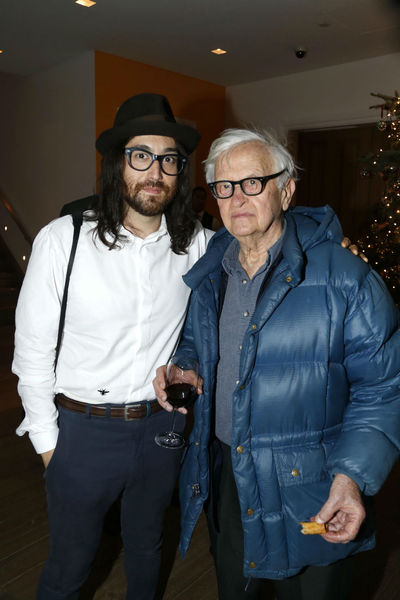 <p>Sean Lennon and Albert Maysles at a screening for &#39;Chasing Ice&#39; at the Cosby Hotel, Wednesday, December 19, 2012.</p>
