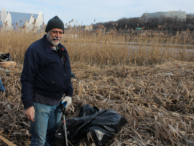 <p>Ross French volunteered to clean up Sherman Creek on Dec. 12, 2012. &quot;I love this park,&quot; French said.</p>