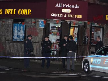 Police said a 26-year-old bodega employee was found shot in the head.