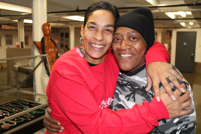 <p>SoHarlem apprentices Maria Rosa and Kim Howard say they&#39;ve learned to do everything from stain and sand to make prints.</p>