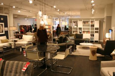 Room & Board's annual sale in SoHo attracts buyers from all over the city.