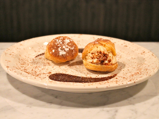 <p>The dessert menu at Tufino Pizzeria Napoletana includes the Tirami Choux &mdash; a traditional cream puff pastry, but made with the flavors of Tiramisu.</p>