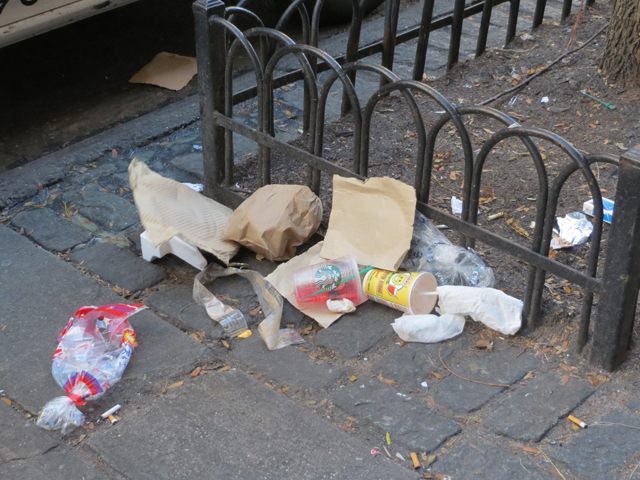 <p>The Doe Fund has stopped cleaning the East 86th Street Commercial District, and trash is accumulating in the area.</p>