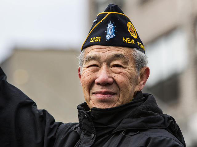 <p>A war veteran takes in the sights and sounds of the annual East Meets West Parade in Chinatown &amp; Little Italy on Dec. 22nd, 2012.</p>