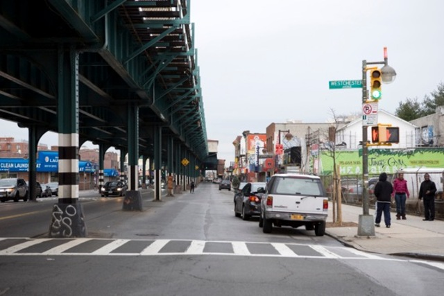 <p>Westchester Avenue early on Saturday, December 29, hours after a woman was struck and killed while crossing the street by a hit-and-run driver.</p>