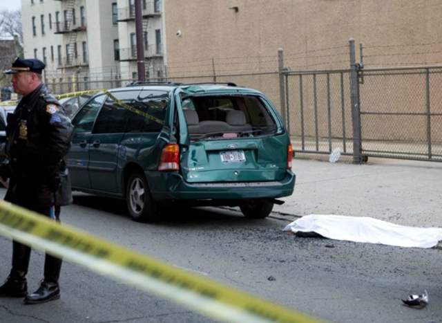 <p>A woman in the Bronx was killed in a hit-and-run on December 29, 2012.</p>