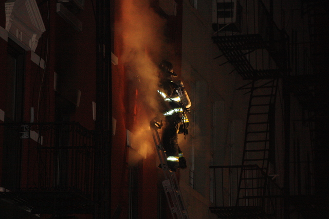<p>Firefighters responded to a massive blaze at 41 Spring St. Jan. 10, 2013.</p>