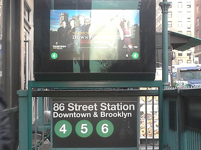 <p>The booth on the downtown track of the 86th Street-Lexington Avenue 4/5/6 station serves both directions of the trains.</p>