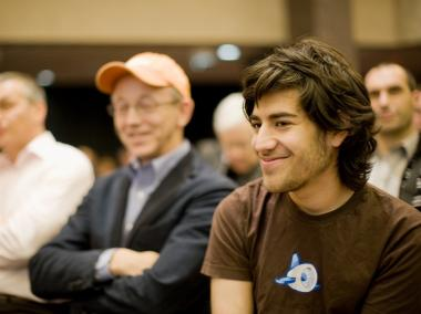 Aaron Swartz, in December 2008. The Reddit co-founder, 26, was reported to have committed suicide in his Crown Heights home, and was discovered on January 12, 2013.