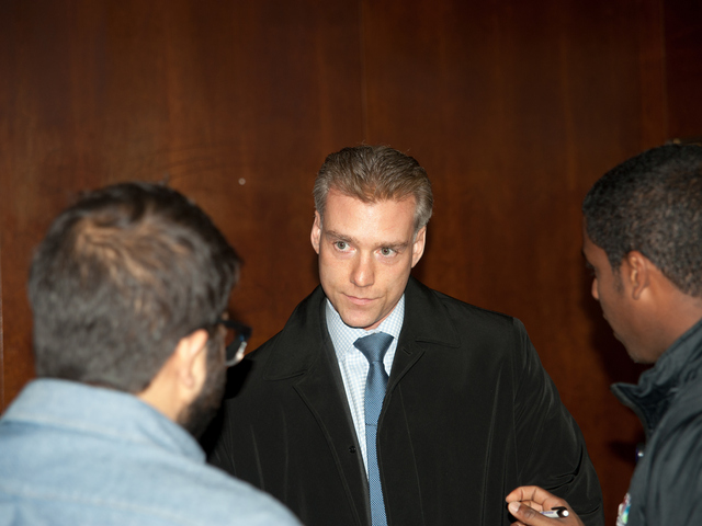 <p>Steven M. Raiser, the lawyer for accused subway pusher Erica Menendez, at the court house on Monday Jan. 14, 2013.</p>