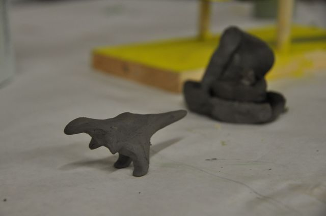 <p>Clay models created by the students on Jan. 30, 2013 at the Beam Center.&nbsp;</p>