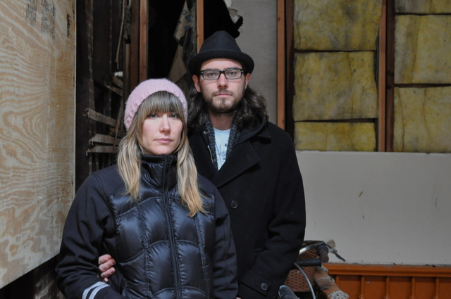 <p>Tara McPherson and her boyfriend Sean Leonard, who lived with their 6-month-old baby at 173 Bedford Ave., said they are finding a new place to live now that they have been told repairs on their building will take at least six months.</p>
