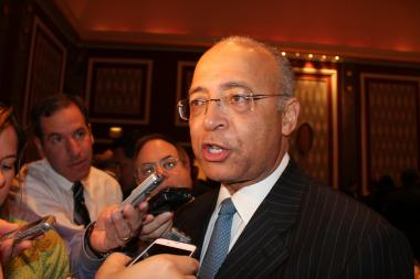 Mayoral candidate Bill Thompson reported a significant boost in fundraising on Tuesday morning.
