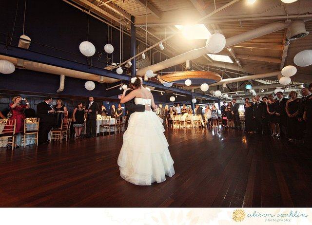 <p>A bride dances on her wedding day at Bridgewaters.</p>