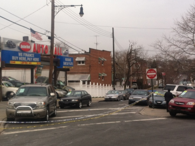 <p>The streets around the car dealership where the shooting took place on Thursday Jan. 3, 2013, remained closed a day later.</p>