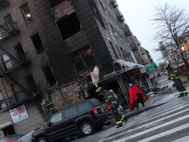 <p>The fire tore through a West 188th Street apartment building in Washington Heights early Friday Jan. 25, 2013.</p>