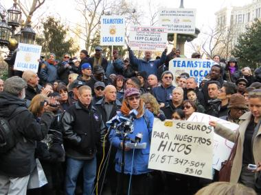 On Saturday, January 6, two different press confereces were held in response to the possible school bus drivers strike.