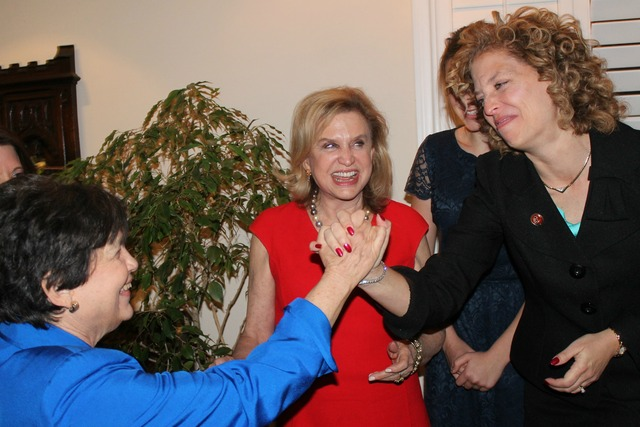 <p>Rep. Carolyn Maloney and her D.C. roommate, Rep. Debbie Wasserman Schultz.</p>