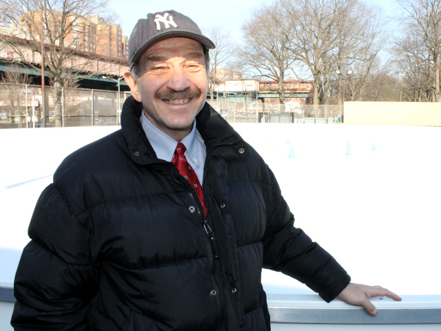 <p>Cary Goodman, head of the 161st Street BID, had hoped to develop a South Bronx skating rink. Instead, for now, he must travel several miles north to the new Van Cortlandt Park Ice Skating Rink, the borough&#39;s only outdoor ice spot.</p>
