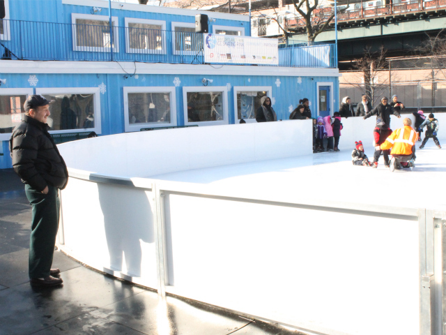 <p>Cary Goodman, head of the 161st Street BID, and his organization sponsored an ice skating trip for students in the Highbridge Advisory Council&rsquo;s Head Start program.</p>