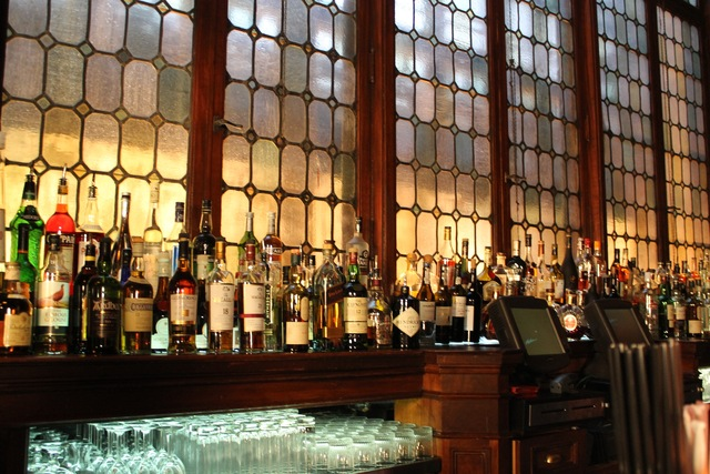 <p>The bar at Campbell Apartment.</p>
