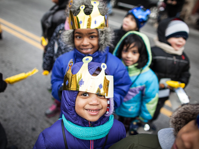 <p>Children enjoy the 36th Annual Three Kings Day Parade in East Harlem on Jan. 4, 2013.</p>