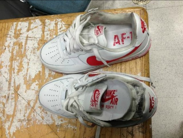 <p>Authorities found cocaine in the soles of these sneakers at JFK Airport, Jan. 12, 2013.</p>