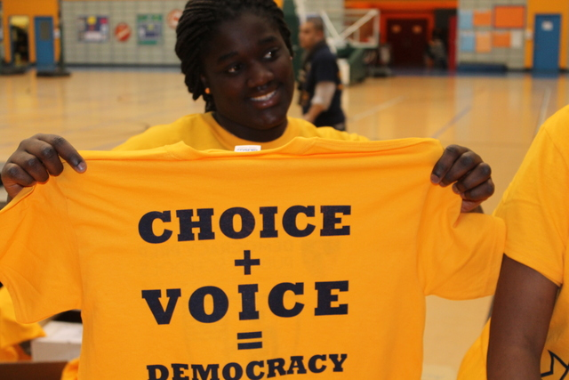 <p>Choice + Voice was the theme of the inauguration celebration.</p>
