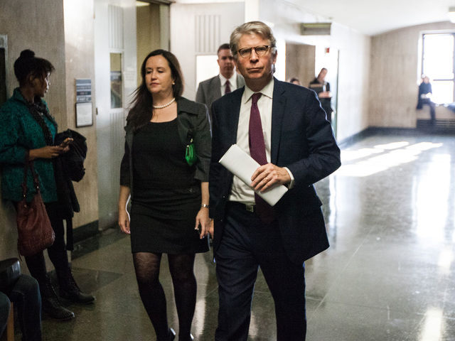 <p>District Attorney Cyrus Vance leaves court after convicted serial killer Rodney Alcala was sentenced for the murders of Cornelia Crilley and Ellen Hover in Manhattan Supreme Court on Jan. 7th, 2013.</p>