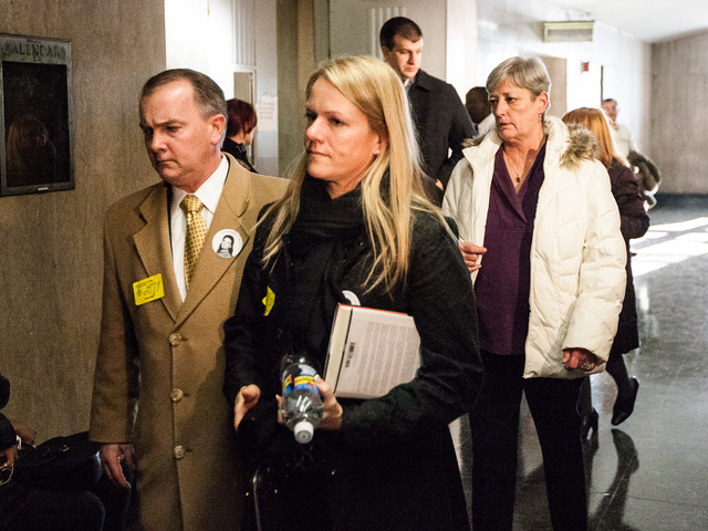 <p>Family and friends of victims Cornelia Crilley and Ellen Hover leave court after Rodney Alcala was sentenced for their murders on Jan. 7th, 2013.</p>