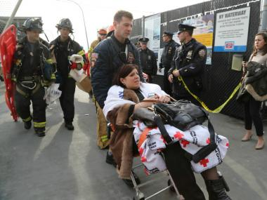 Dozens of people were injured after a ferry crashed near Pier 11 on Jan. 9, 2013.