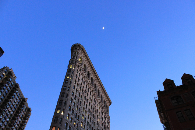 <p>Beginning March 1, 2013, park visitors can view an inverted moving image of the Flatiron Building by looking through a camera obscura exhibit called <a href=