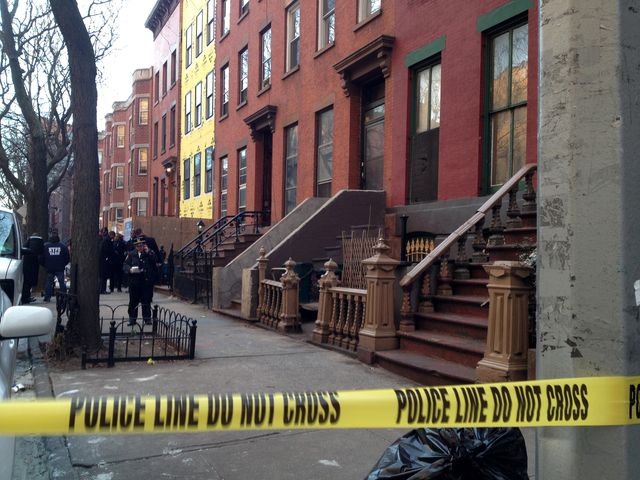 <p>A man was shot by police at 48 Fort Greene Place on Jan. 2, 2013.</p>