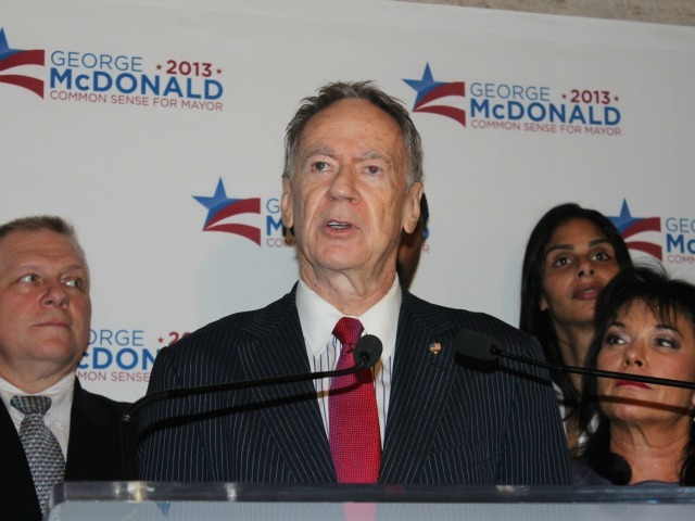 <p>George McDonald said his platform will center on delivering jobs for all New Yorkers.</p>