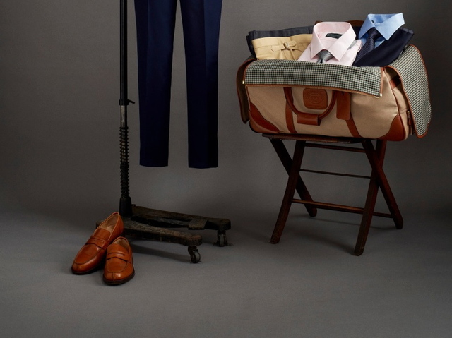 <p>The &quot;Traveller&quot; suit-bag combo is meant to serve traveling businessmen, since &quot;a businessman doesn&#39;t have the time to pick out his own wardrobe, so we do it for him,&quot; tailor Will Brennan said.</p>