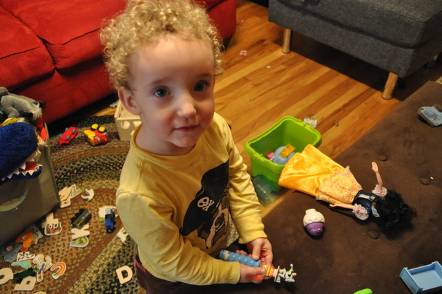 <p>Lucien Glorieux, Jessica Glorieux&#39;s&nbsp;2-year-old son, played in their apartment near McGolrick Park. Since Glorieux had her two children, she has started a mother&#39;s group and a parent consulting company for North Brooklyn. Her latest venture is Brooklyn&#39;s first &quot;baby fest.&quot;</p>