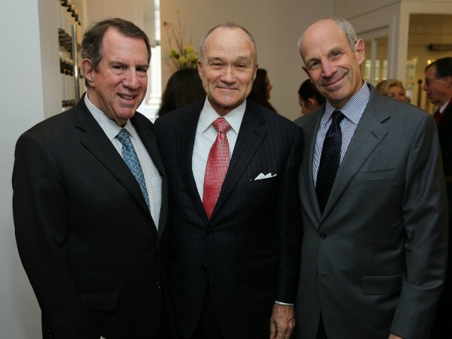 <p>Andrew and Jonathan Tisch pose for a photograph with Police Commissioner Ray Kelly at the Inaugural Loews Regency Power Breakfast Event at the Park Avenue Winter on Jan. 9, 2013.</p>