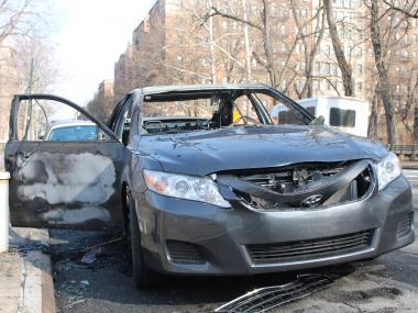 FDNY officials said the car fire occurred Jan. 28, 2013.