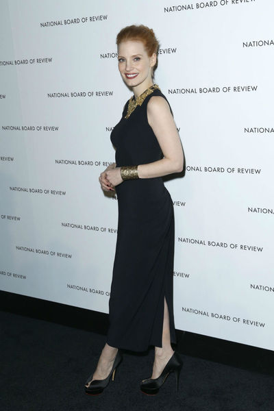 <p>Jessica Chastain at the National Board of Review Awards at Cipriani 42nd Street, Tuesday, January 8, 2013.</p>
