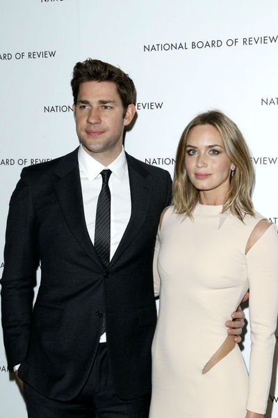 <p>John Krasinski and Emily Blunt at the National Board of Review Awards at Cipriani 42nd Street, Tuesday, January 8, 2013.</p>