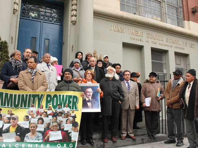 <p>Community advocates celebrated news that P.S. 132 Juan Pablo Duarte was spared from closure on Jan. 11.</p>