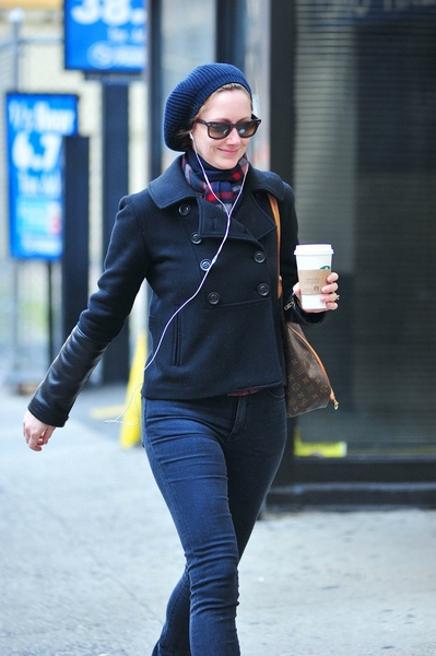 <p>Judy Greer, heading to her last performance in &quot;Dead Accounts&quot; on Broadway, Sunday, January 6, 2013.</p>
