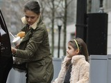 Katie Holmes Eats Shake Shack with Suri, Bradley Cooper Hams It Up for Fans