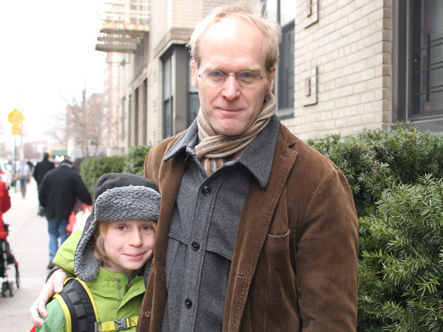 <p>Lars Hanson said that P.S. 187 is a great school for his son Graydon.</p>